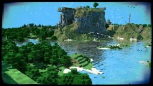 Imagen en la que aparece un Mundo de Minecraft.