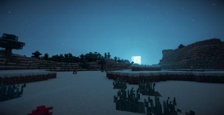 Noche en Minecraft.