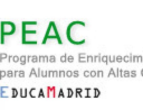ConMasFuturo participa en el Programa de Enriquecimiento Educativo para alumnos con altas capacidades de la Comunidad de Madrid