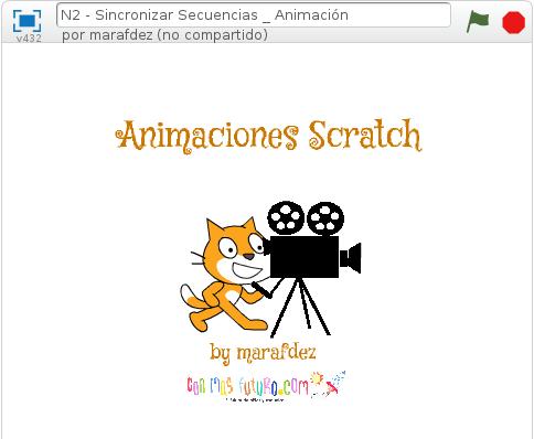 Clase extrescolar de programación, animación programada con Scratch.