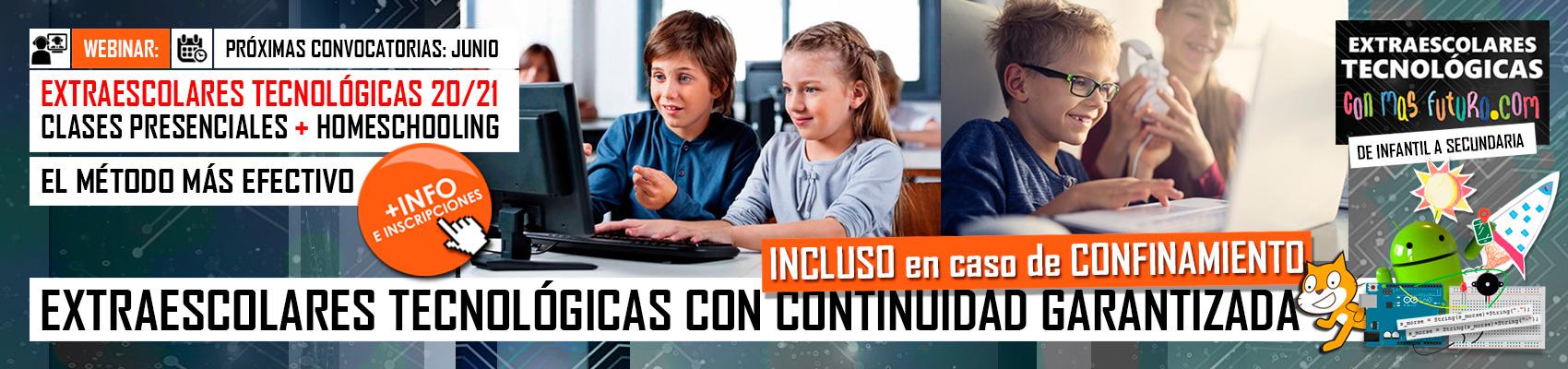 Webinar Extraescolares Tecnológicas ConMasFuturo20/20