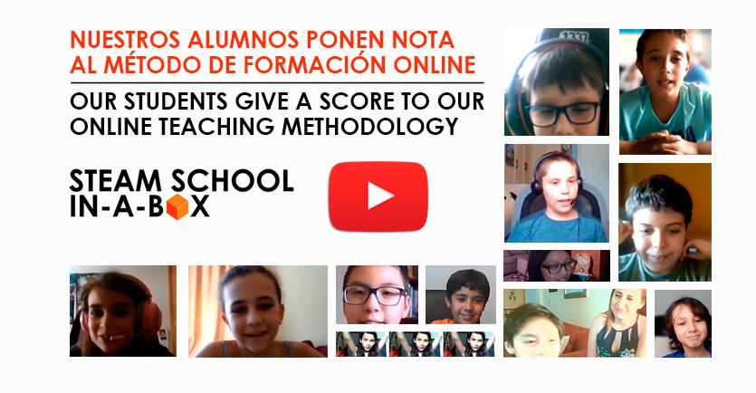 Nuestros alumnos ponen nota al método de formación online STEAM SCHOOL IN-A-BOX