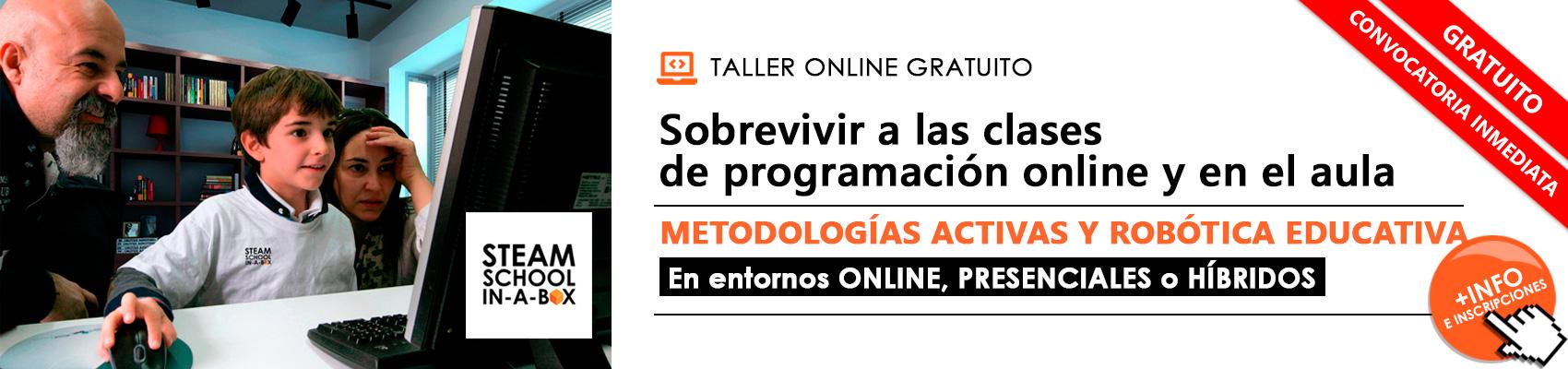 Taller Online Gratuito Metodologías Activas y Robótica Educativa